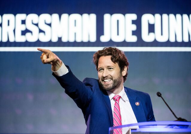 Rep. Joe Cunningham (D-SC) addresses the crowd at the 2019 South Carolina Democratic Party State Convention on June 22, 2019 in Columbia, South Carolina.