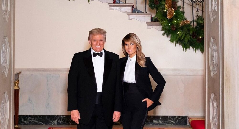 Donald and Melania Trump's Christmas portrait