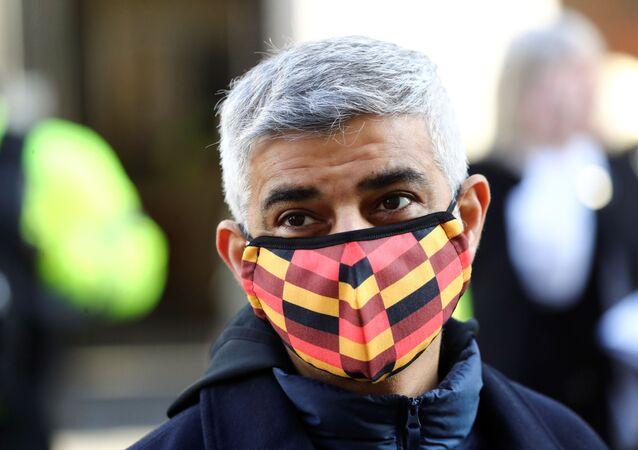 Mayor of London Sadiq Khan looks on, amid the coronavirus disease (COVID-19) outbreak, on Oxford Circus in London, Britain December 5, 2020.
