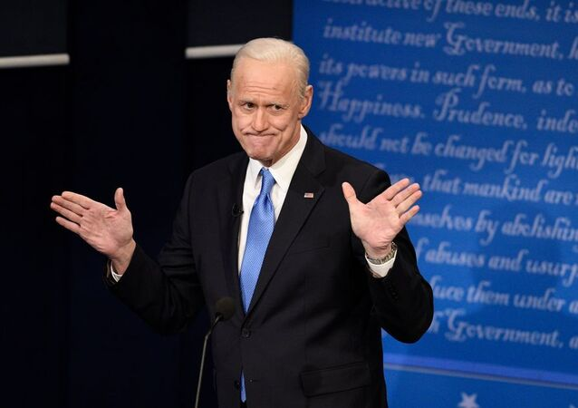 Actor Jim Carrey parodies US President-elect Joe Biden on NBC's Saturday Night Live show.