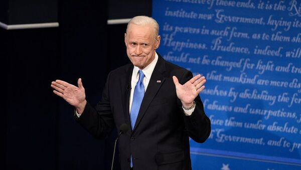 Actor Jim Carrey parodies US President-elect Joe Biden on NBC's Saturday Night Live show. - Sputnik International