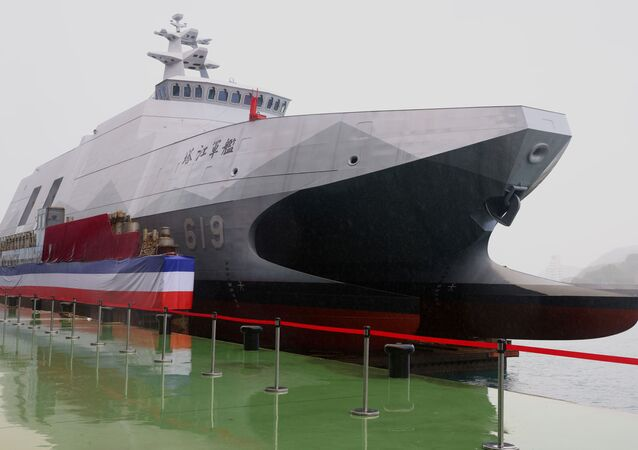 A Tuo Chiang-class corvette can be seen during an official ceremony in Yilan, Taiwan, Decemebr 15, 2020. REUTERS/Ann Wang/File Photo