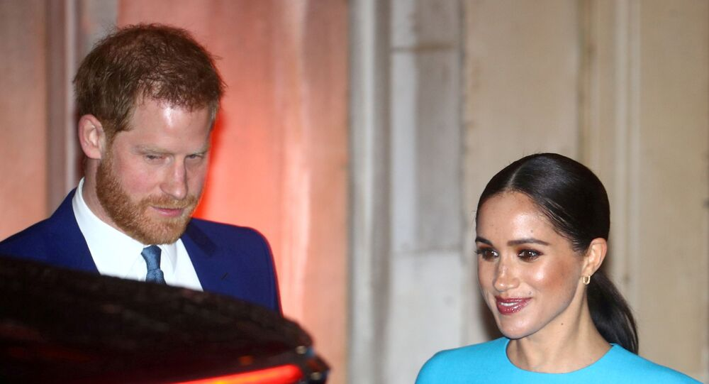 Britain's Prince Harry and his wife Meghan, Duchess of Sussex, leave after attending the Endeavour Fund Awards in London, Britain March 5, 2020