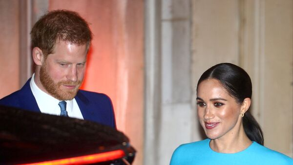 Britain's Prince Harry and his wife Meghan, Duchess of Sussex, leave after attending the Endeavour Fund Awards in London, Britain March 5, 2020 - Sputnik International