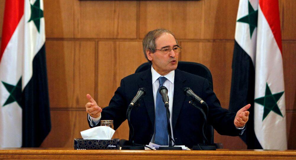 Syrian Foreign Minister Faisal Mekdad