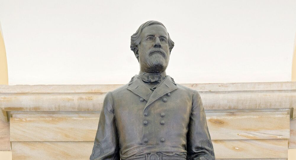 According to the Architect of the Capitol, this statue of Robert E. Lee was given to the National Statuary Hall Collectionby Virginia in 1909