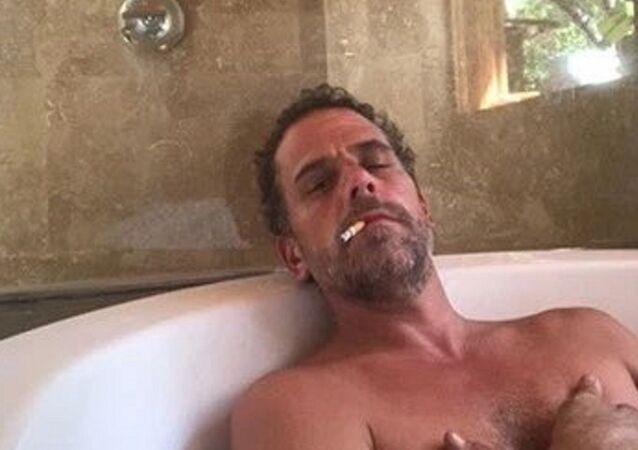 Photo of Hunter Biden relaxing in a bathtub, reportedly taken from a computer dropped off at a Delaware computer repair shop.