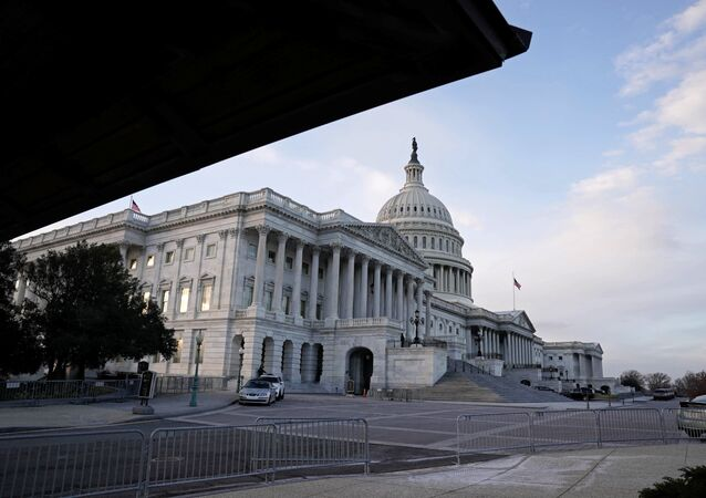 The view of the Nations Capitol as the Democrats and Republicans continue moving forward on the agreement of a coronavirus disease (COVID-19) aid package in Washington, D.C., U.S. December 21, 2020.