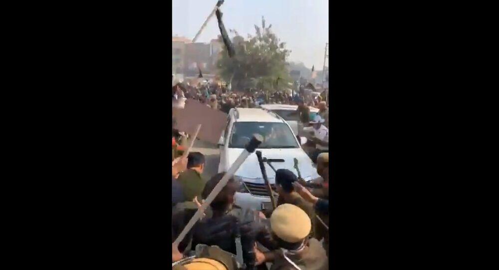 BJP leaders, across Haryana, are gheraoed, shown black-flags & slogans raised against them, blaming their governance modal for being anti-farmer