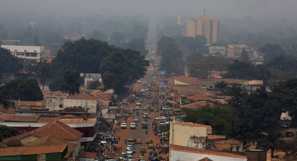 A general view shows a part of the capital Bangui, Central African Republic, February 16, 2016.