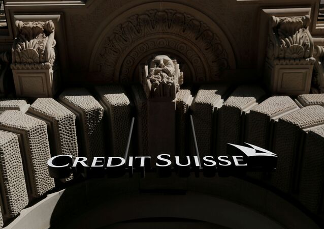 The logo of Swiss bank Credit Suisse is seen at its headquarters at the Paradeplatz square in Zurich, Switzerland October 1, 2019.