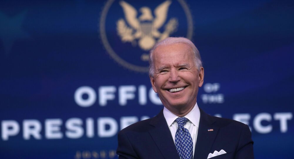U.S. President-elect Joe Biden reacts as he answers questions from the news media after speaking about the recent massive cyber attack against the U.S. and also other Biden administration goals in Wilmington, Delaware, U.S., December 22, 2020