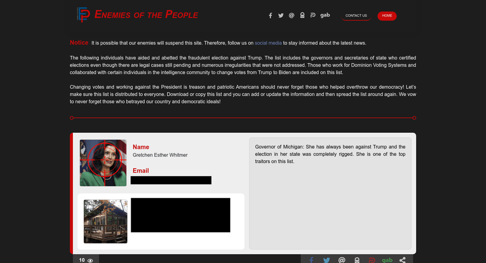 Enemies of the People website. Screengrab