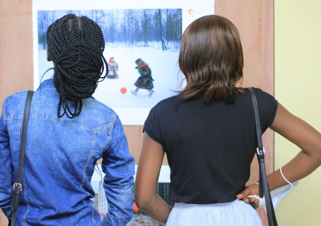 Opening of the exhibition of the winners of the competition. Andrey Stenin in Kinshasa