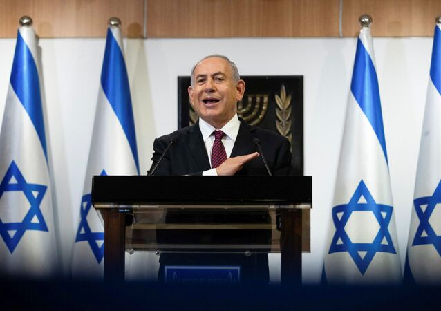 Israeli Prime Minister Benjamin Netanyahu delivers a statement at the Knesset (Israel's parliament) in Jerusalem, December 22, 2020.