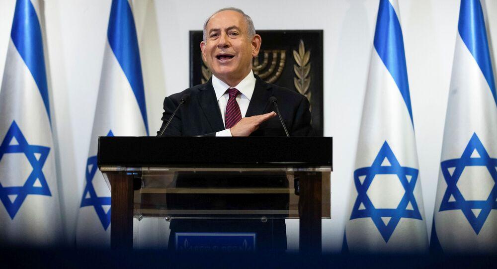 Israeli Prime Minister Benjamin Netanyahu delivers a statement at the Knesset (Israel's parliament) in Jerusalem, December 22, 2020.