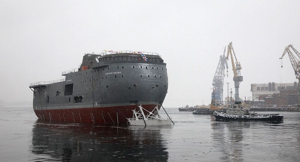 Russia North Pole Platform Ship