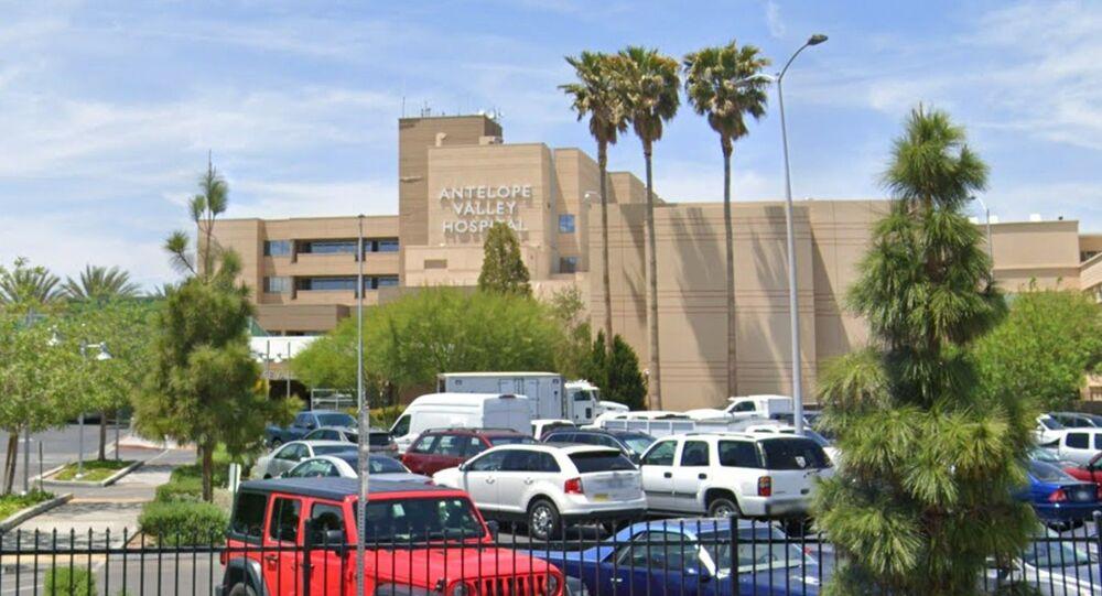 Screenshot image of the Antelope Valley Hospital in Lancaster, California.