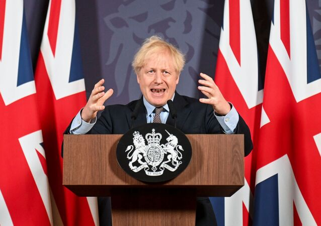 British Prime Minister Boris Johnson holds a news conference in Downing Street on the outcome of the Brexit negotiations, in London, Britain December 24, 2020.