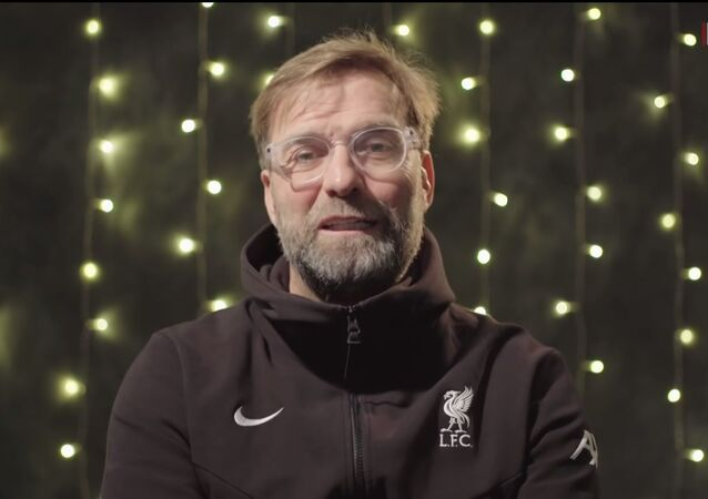 FC Liverpool's manager Jurgen Klopp delivers a Christmas message to fans on December 25, 2020