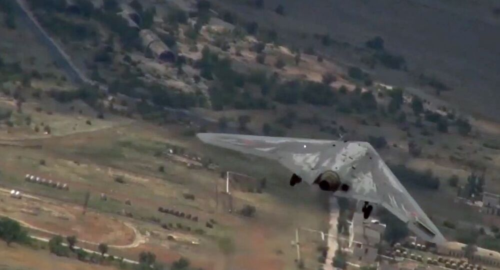 Tests of the Okhotnik combat unmanned aerial vehicle