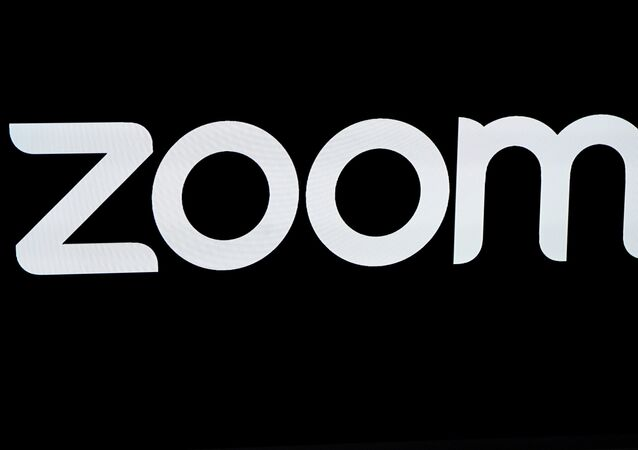 The Zoom Video Communications logo is pictured at the NASDAQ MarketSite in New York, New York, U.S., April 18, 2019.