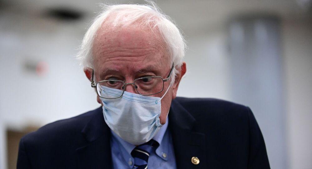 U.S. Sen. Bernie Sanders (D-VT) walks through the U.S. Capitol subway in Washington, U.S., December 8, 2020