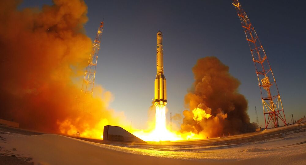 Launch of the Proton-M carrier rocket