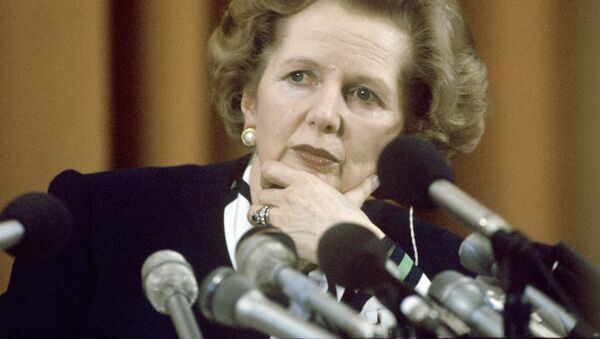 British Prime Minister Margaret Thatcher at a press conference during an official visit to the USSR. - Sputnik International