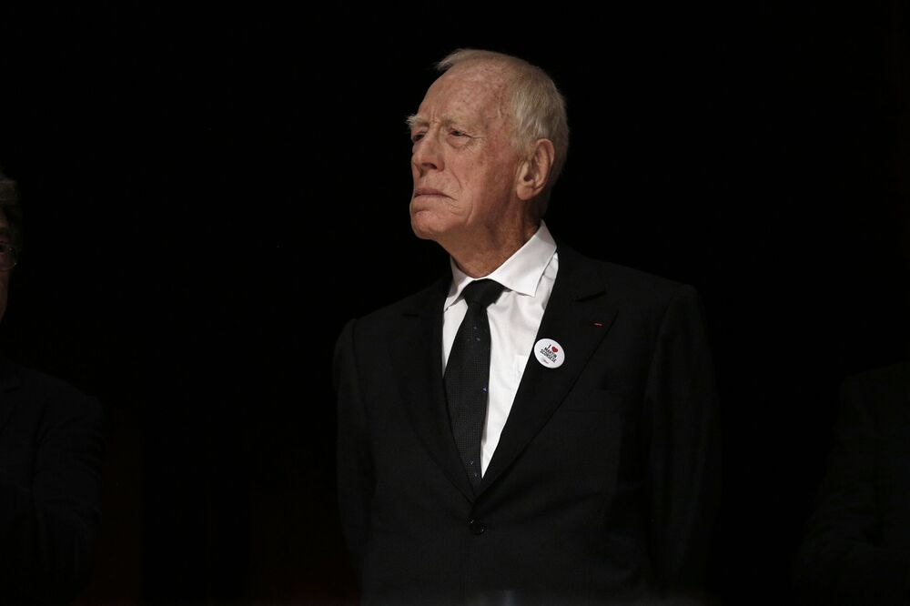 Actor Max Von Sydow attends the 7th Lumiere Festival in Lyon, 16 October 2015.
