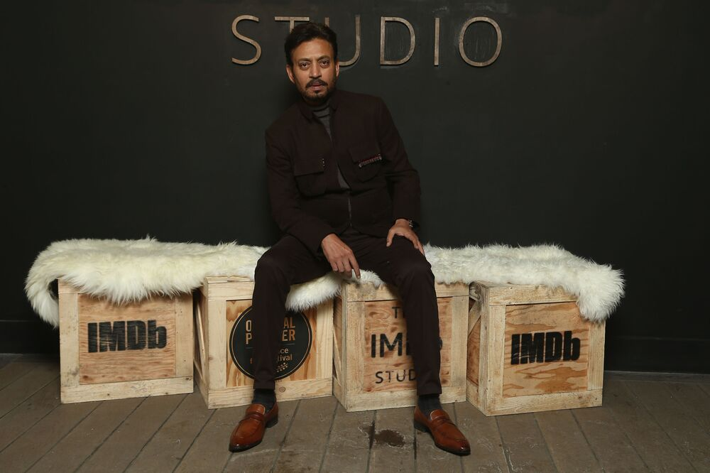Actor Irrfan Khan – famous for the film Puzzle – attends the Sundance Film Festival on 22 January 2018 in Park City, Utah.