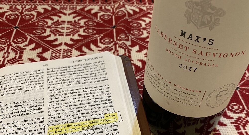 Tonight, we're freely worshiping Jesus Christ and drinking Australian wine — two things that the CCP does not allow  Fight For Freedom