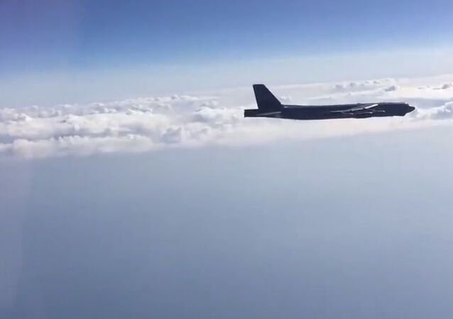 Interception of US Air Force B-52H bombers over the Black Sea
