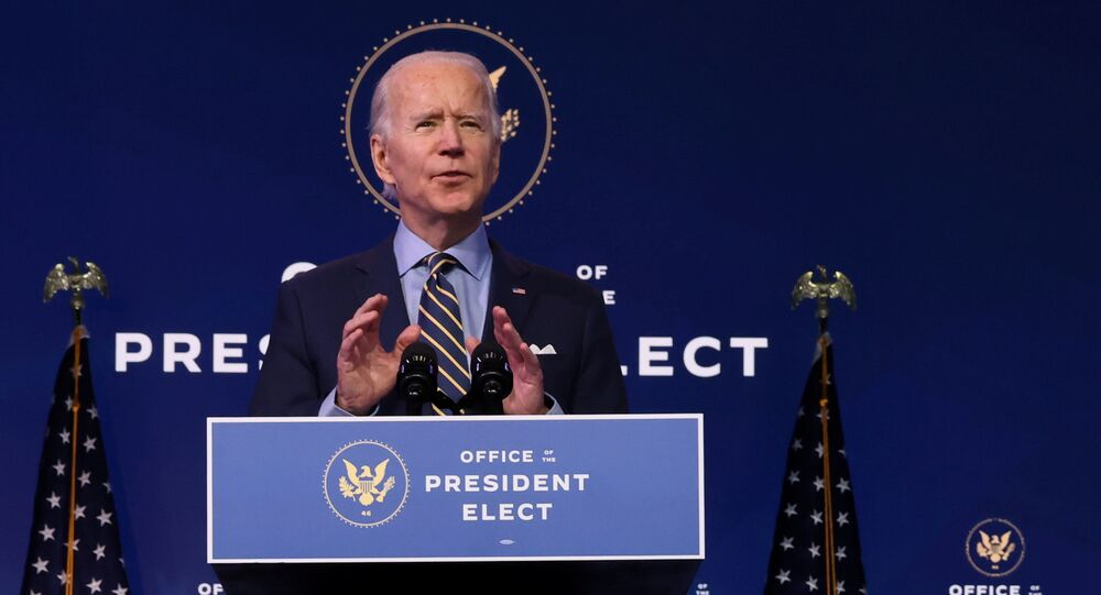 U.S. President-elect Joe Biden delivers remarks on national security and foreign policy at his transition headquarters in Wilmington, Delaware, U.S. December 28, 2020.