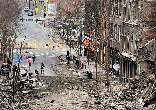 Blast site in Downtown Nashville