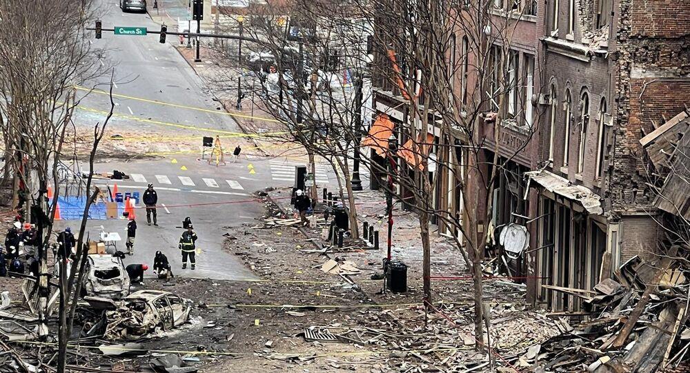 Blast site in Downtown Nashville