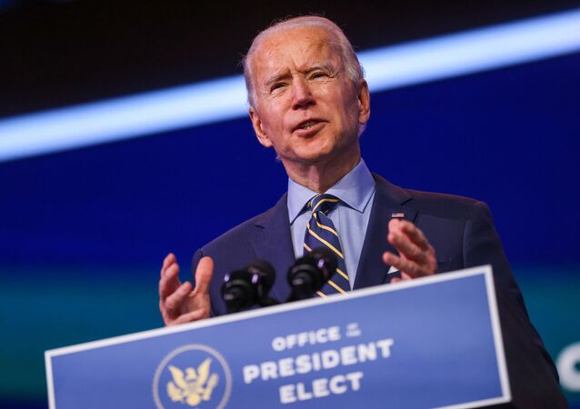 U.S. President-elect Joe Biden delivers a speech after a conference video call focused on foreign policy at his transition headquarters in Wilmington, Delaware, U.S., December 28, 2020