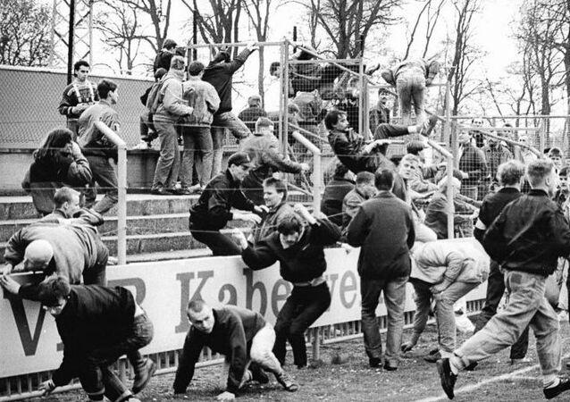 German football hooligans in 1990
