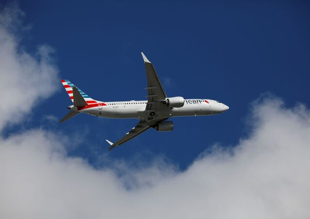 American Airlines flight 718, the first U.S. Boeing 737 MAX commercial flight since regulators lifted a 20-month grounding in November, takes off from Miami, Florida, U.S. December 29, 2020.