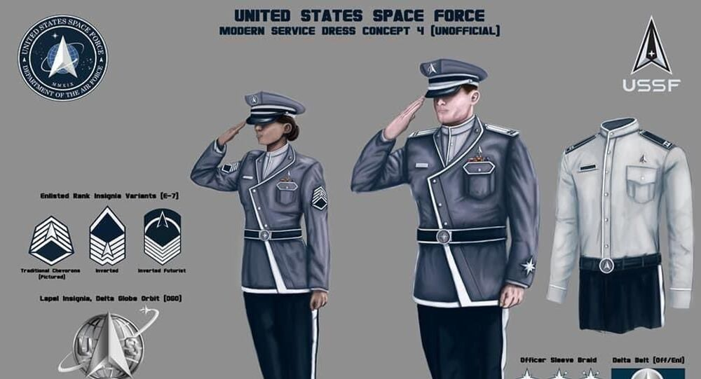 An unofficial concept art of uniform design for the United States Space Force