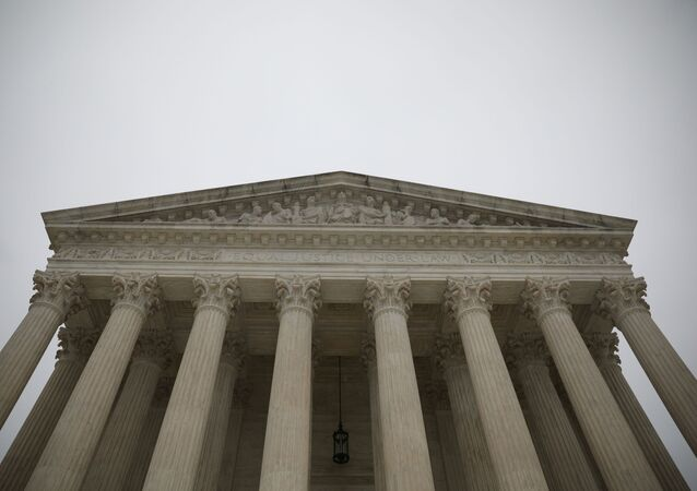The United States Supreme Court during a rain storm on Capitol Hill in Washington, U.S., December 14, 2020