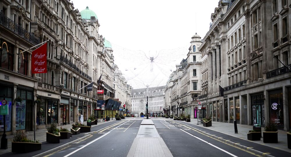 A view of a quiet Regent Street as shops remain closed under Tier 4 restrictions, amid the coronavirus disease (COVID-19) outbreak, in London, Britain, December 26, 2020