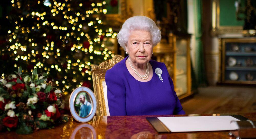 Britain's Queen Elizabeth II records her annual Christmas broadcast in Windsor Castle, Berkshire, Britain December 24, 2020. Picture taken December 24, 2020