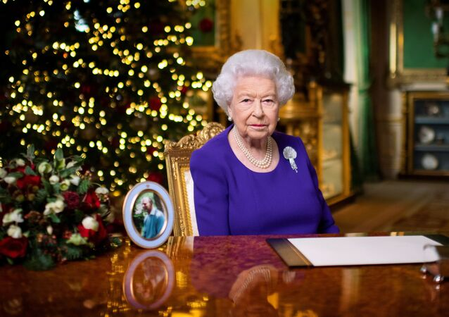 Britain's Queen Elizabeth II records her annual Christmas broadcast in Windsor Castle, Berkshire, Britain December 24, 2020. Picture taken December 24, 2020