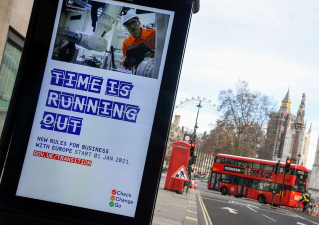 A British government informational poster is seen on a bus stop, amid the coronavirus disease (COVID-19) pandemic, in London, Britain, December 30 2020