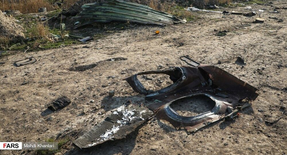 Image captures debris found at the crash site of Ukraine International Airlines Flight PS752 in Tehran, Iran.