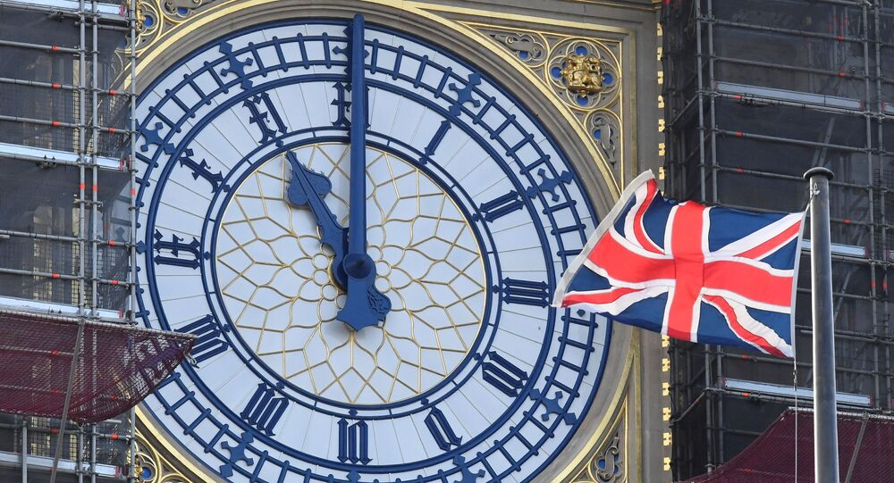 A clockface of the Elizabeth Tower at the Houses of Parliament, more commonly known as Big Ben, shows 1100 GMT, ahead of Britain formally exiting the EU transition period on December 31 at 2300GMT, London, Britain