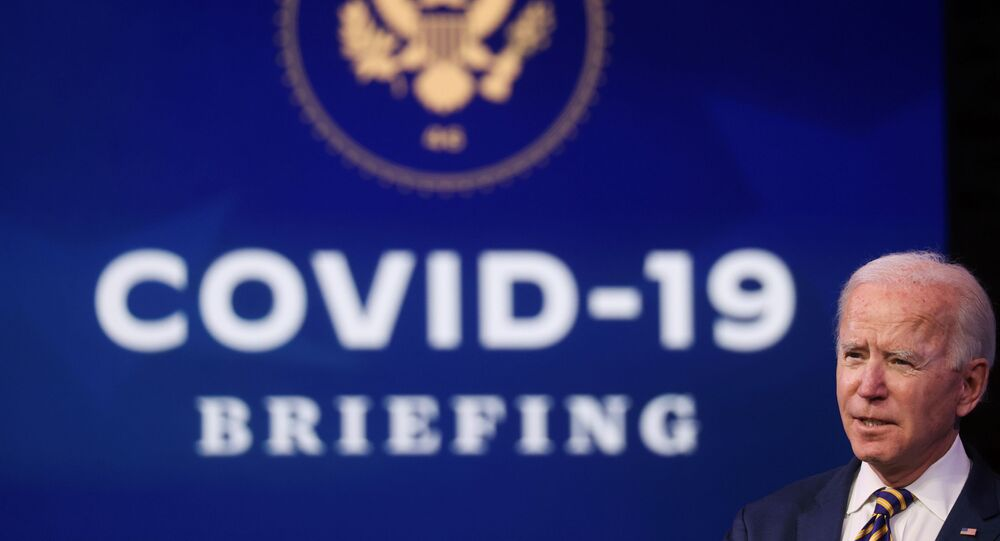 U.S. President-elect Joe Biden delivers remarks on the US response to the coronavirus disease (COVID-19) outbreak, at his transition headquarters in Wilmington, Delaware.