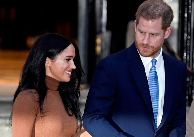 Britain's Prince Harry and his wife Meghan, Duchess of Sussex, leave Canada House in London, Britain January 7, 2020