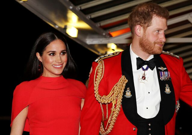 Britain's Prince Harry and his wife Meghan, arrive to attend the Mountbatten Festival of Music at the Royal Albert Hall in London, Britain March 7, 2020
